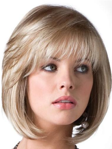 Perruques Bob Magnifique Blonde Longueur de Menton Lisse