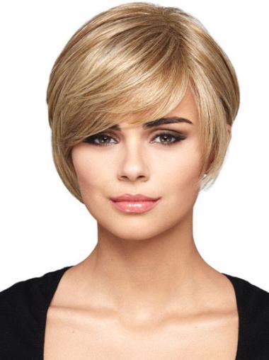 Perruques Bob Splendide Blonde Courte Lisse
