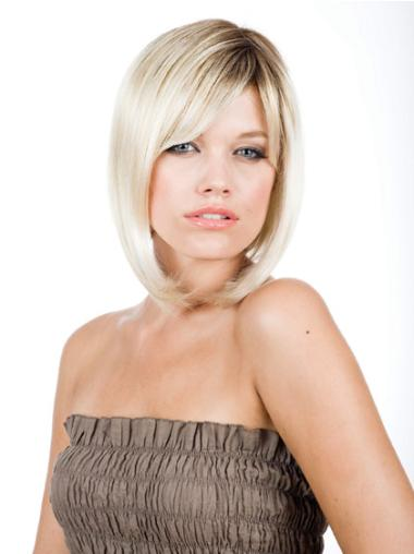 "Perruques Bob Moderne Blonde 10"" Lisse"