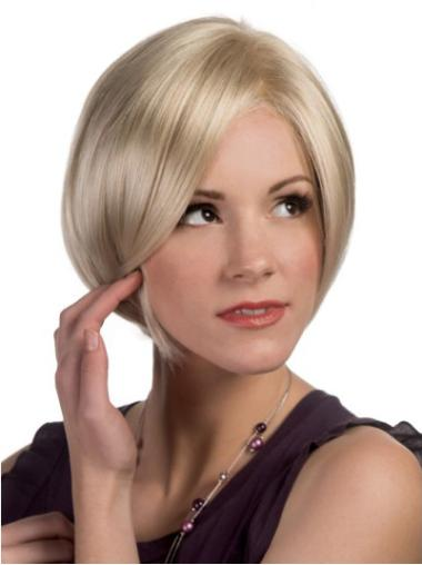 Perruques Bob Invraisemblable Blonde Longueur de Menton Lisse