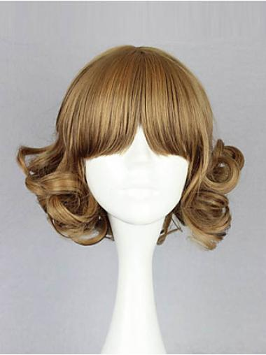 Perruques Bob Flexible Blonde Longueur de Menton Ondulé