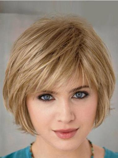 Perruques Bob En Vogue Blonde Courte Lisse