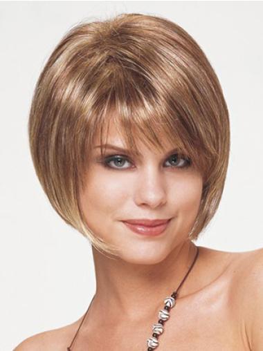 """Perruques Courtes 8"""" Souple Blonde"""