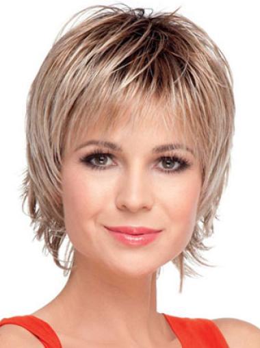 """Perruques Courtes 8"""" Idéale Blonde"""