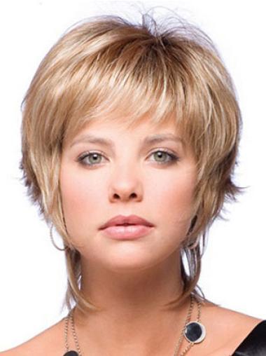 """Perruques Courtes 6"""" Bonne Blonde"""