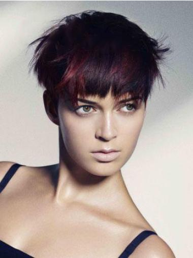 """Perruques Cheveux Humaines 6"""" Excellente Rouge"""