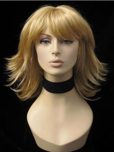 """Perruques Moyennes 12"""" Haute Qualité Blonde"""