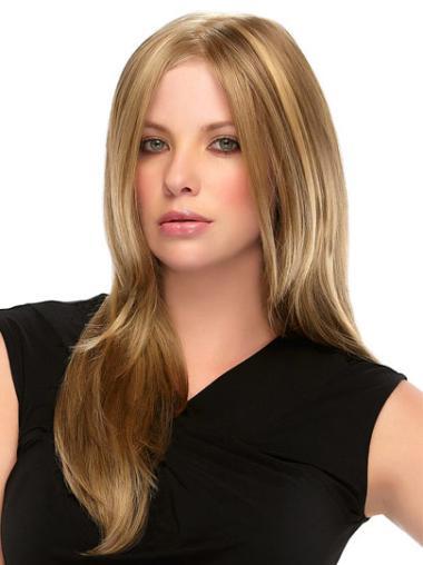 """Perruques 100% Fait à la Main Merveilleuse Blonde 16"""" Lisse"""