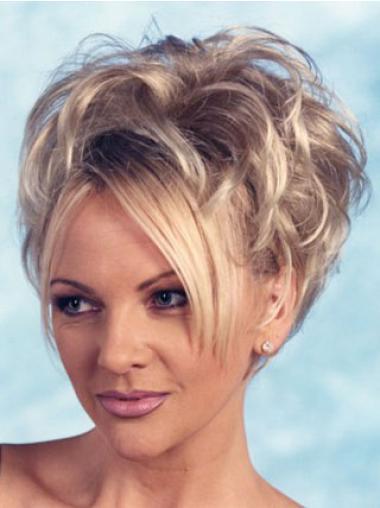 Perruques Moitié Elégante Blonde Courte