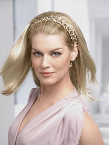 Perruques Moitié Idéale Blonde Longueur d'Epaules