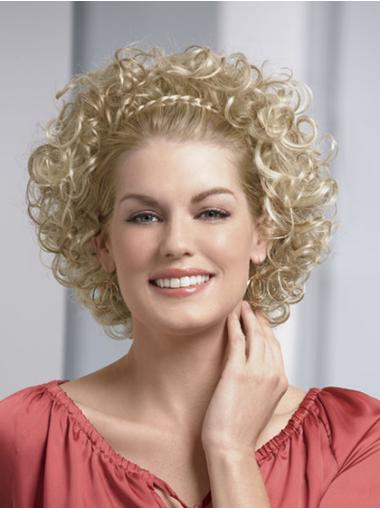 Perruques Moitié Fashion Blonde Longueur de Menton