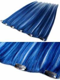 Extensions à Clip Cheveux Humains Noir Lisse