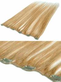 Extensions à Clip Cheveux Humains Blonde Lisse