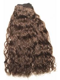 Extensions à Clip Cheveux Humains Brune Frisée
