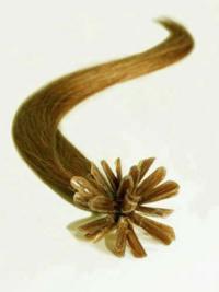 Ongle/U Extensions de Cheveux Blonde Lisse