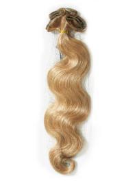 Extensions Enclaver dans les Cheveux Blonde Ondulé