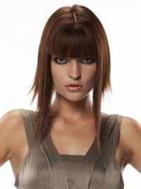 Compléments en Cheveux Humains Auburn Longue Lisse