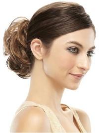Enroulements / Chignons Ronds Cheveux Humains Brune Clip-In