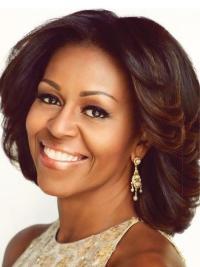 "Perruques Michelle Obama Multicouche Conçu 12"" Lace Front"