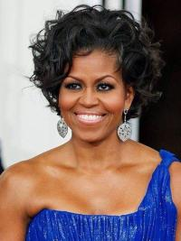 "Perruques Michelle Obama Pixie Lisse 8"" Lace Front"