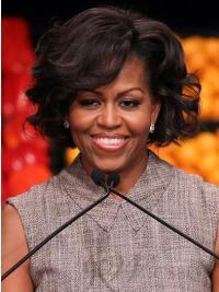 """Perruques Michelle Obama Bob Haute qualité 8"""" Lace Front"""