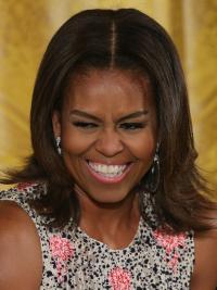 """Perruques Michelle Obama Multicouche Meilleur 12"""" Lace Front"""