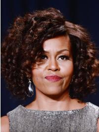 "Perruques Michelle Obama Classique Sommet 12"" Tresse"