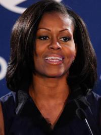 """Perruques Michelle Obama Bob Branché 10"""" Full Lace"""