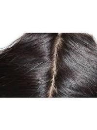Fermeture de Lace Cheveux Humains Noir Ondulé