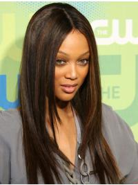 """Perruques Tyra Banks 20"""" Appropriée Brune"""
