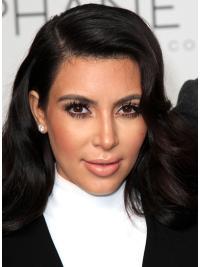 """Perruques Kim Kardashian 18"""" Réduction Noir"""