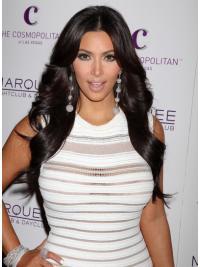 """Perruques Kim Kardashian 26"""" Populaire Noir"""