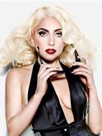 "Perruques Lady Gaga 16"" Moderne Blonde"