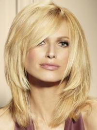"""Remy Human Perruques Lace 14"""" En Stock Blonde"""