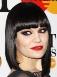 """Perruques Jessie J 12"""" Fabuleux Noir"""