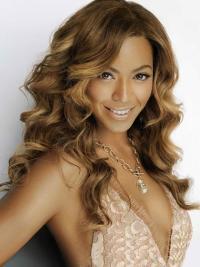 Perruques Beyoncé Flexible Brune Longue Ondulé