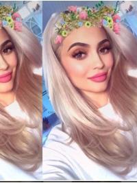 "Perruques Kylie Jenner Blonde Lisse Longue 16"""