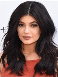 """Perruques Kylie Jenner Noire Lisse Longue 15"""""""