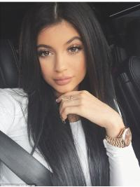 Perruques Lisse Longue Noire Beau Kylie Jenner Inspired