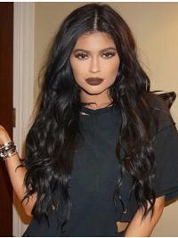 Perruques Frisée Longue Noire Fantastique Kylie Jenner Inspired