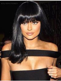 Perruques Lisse Longue Noire Incroyable Kylie Jenner Inspired