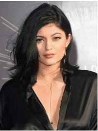 Perruques Ondulé Épaule Longueur Noire Fantastique Kylie Jenner Inspired